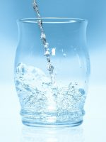 Hydration with HCB2 - glass of water